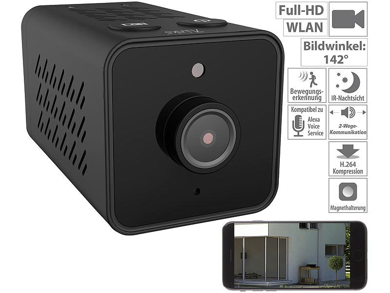 7links mini ip berwachungskamera mit full hd wlan nachtsicht 14 std akku. Black Bedroom Furniture Sets. Home Design Ideas