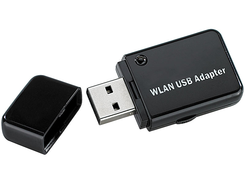 "7links Mini-USB-WLAN-Stick ""WS-300XS"", 300 Mbit n-Draft, WPS-Button; Autoradios, WLAN Stick Autoradios, WLAN Stick Autoradios, WLAN Stick"