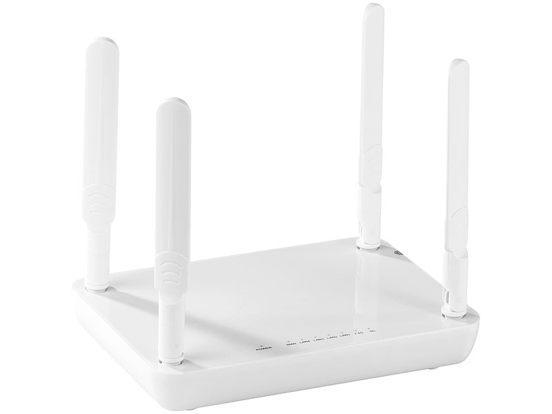 7links WLAN-Router WRP-1200.ac mit Dual-Band, WPS und 1200 Mbit/s