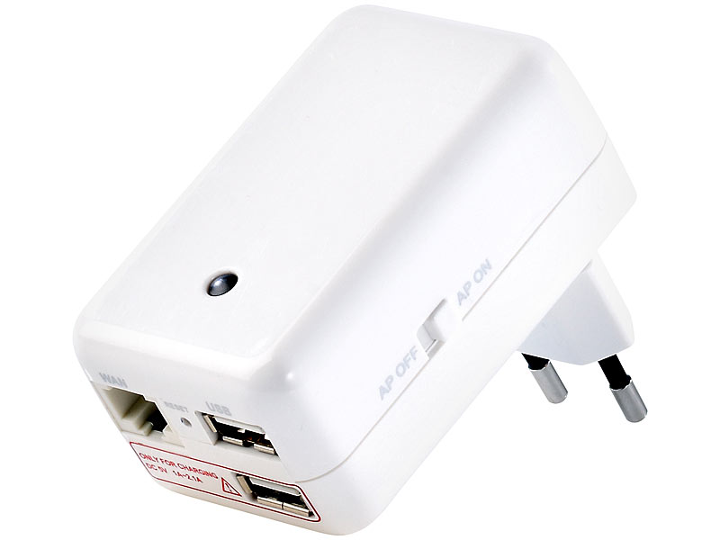 7links 4in1-Mini-WLAN-Router CLD-400.travel, Media-Streaming und 3G
