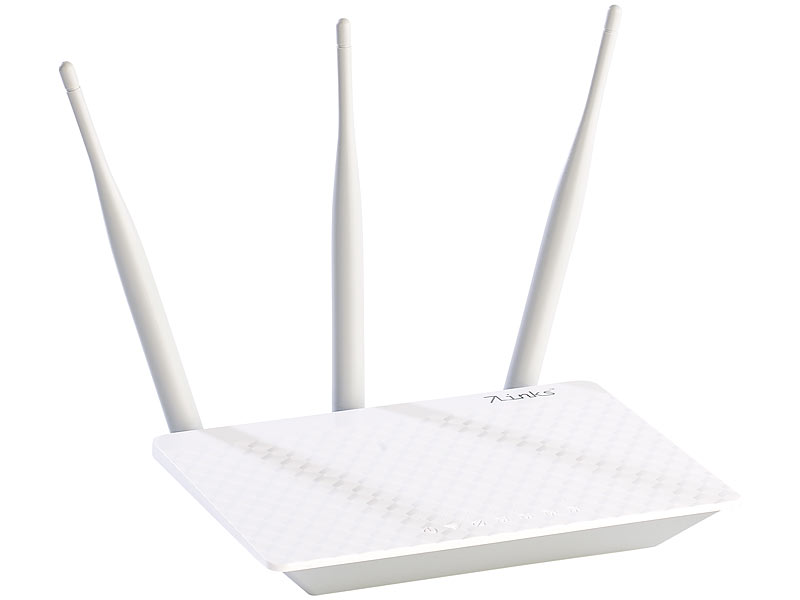 7links 300-Mbit-High-Power-WLAN-Router mit einstellbarer Sendeleistung