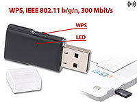 7links Mini-USB-WLAN-Stick WS-300 mit 300 Mbit/s und WPS-Taste; WLAN-Repeater WLAN-Repeater WLAN-Repeater