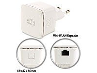 7links Mini-WLAN-Repeater WLR-350.sm mit Access-Point & WPS-Knopf, 300 Mbit/s