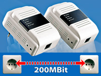 7links 2er Starter Set 200Mbps Powerline Netzwerkadapter